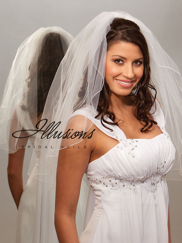 Illusions Bridal Corded Edge Veil 1-251-C