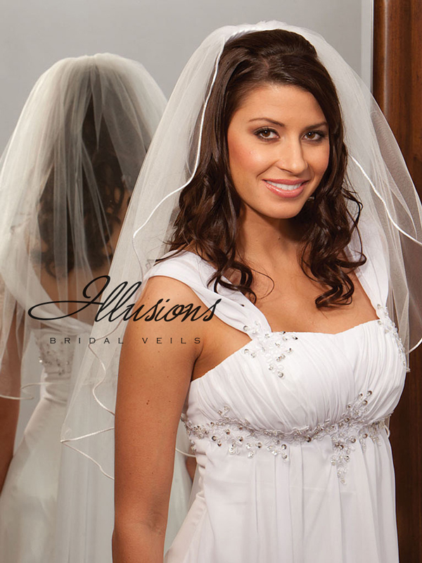 Illusions Bridal Rattail Edge Veil 1-251-RT