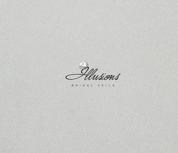 Illusions Bridal Cut Edge Wedding Veil 1-301-CT: Rhinestone Accent, Waist Length