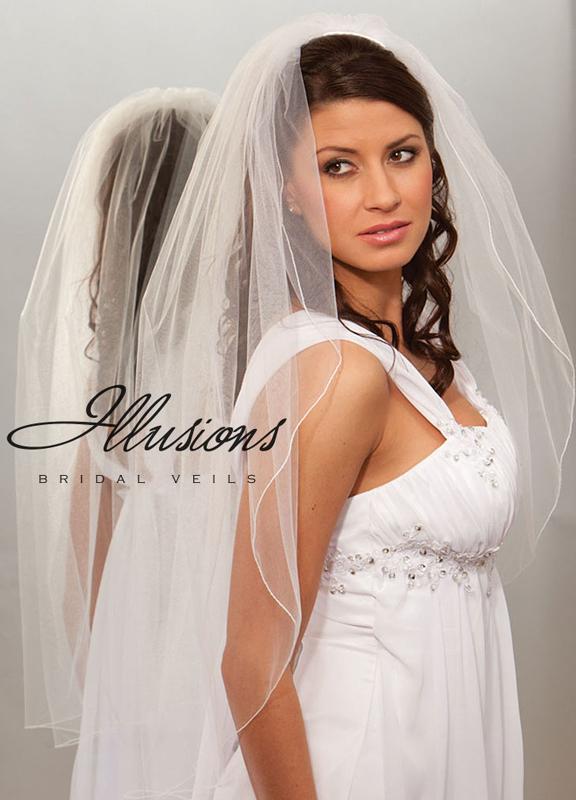 Illusions Bridal Corded Edge Veil 1-361-C
