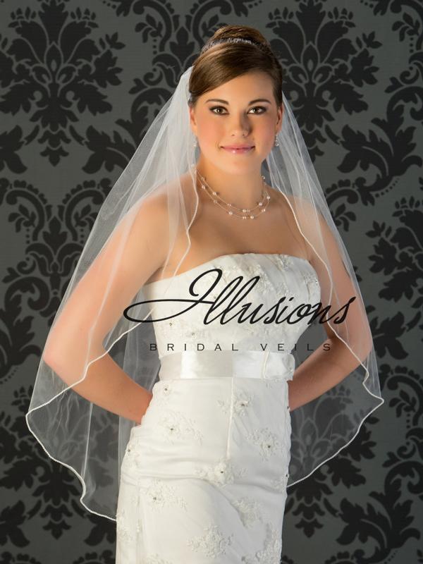 Illusions Bridal Pearl Edge Veil 1-361-P