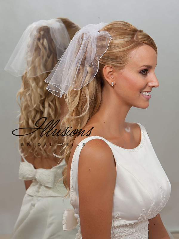 Illusions Bridal Corded Edge Veil 5-101-C: Pearl Accent