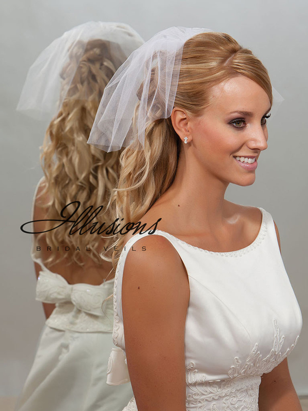 Illusions Bridal Cut Edge Veil 5-101-CT: Rhinestone Accent