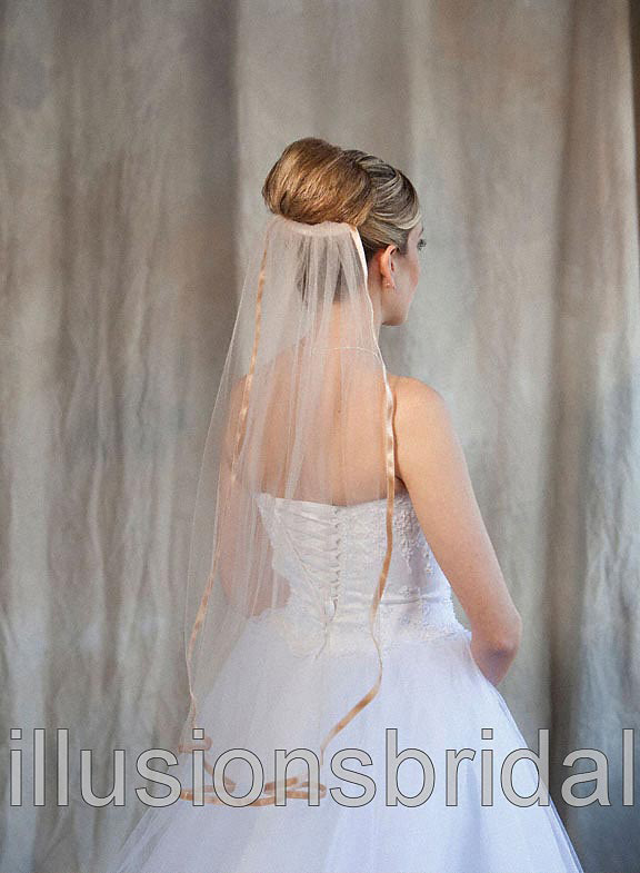 Illusions Bridal Colored Veils and Edges 5-301-3R-CF-CF: Cafe