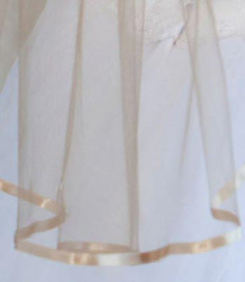 Illusions Bridal Colored Veils and Edges 5-301-3R-G-G: Gold