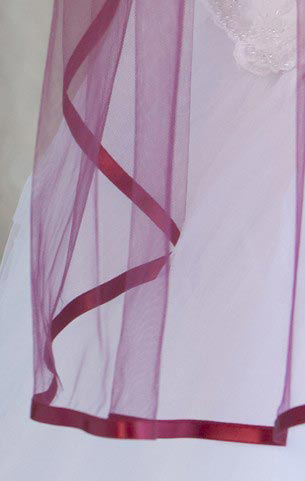Illusions Bridal Colored Veils and Edges 5-301-3R-GT-GT: Garnet