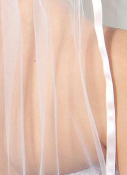 Illusions Bridal Colored Veils and Edges 5-301-3R-PK-PK: Pink