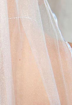 Illusions Bridal Colored Veils and Edges 5-301-3R-S-S: Silver