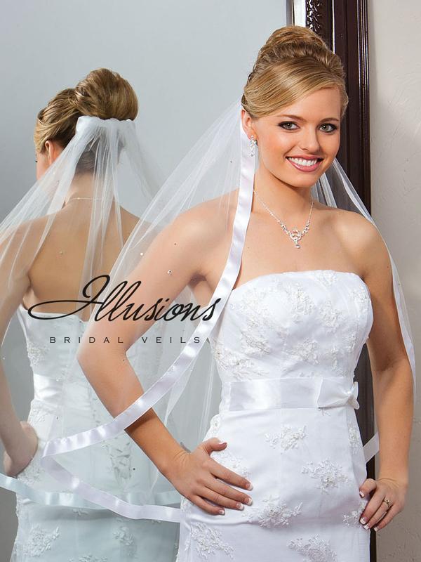 Illusions Bridal Ribbon Edge Veil 5-301-7R-RS