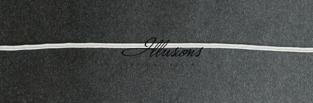 Illusions Bridal Soutache Edge Veil 5-301-ST: Rhinestone Accent