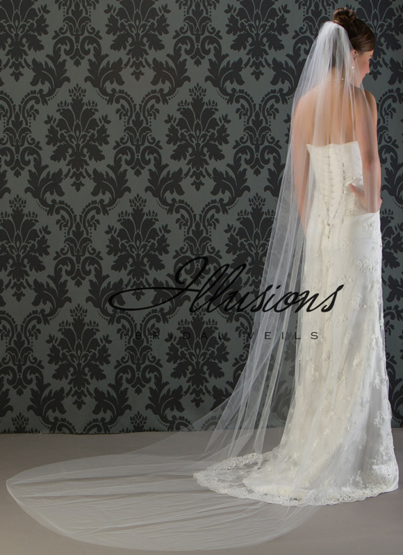 Illusions Bridal Cut Edge Veil 7-1081-CT
