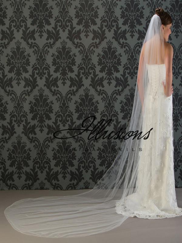 Illusions Bridal Corded Edge Veil 7-1201-C
