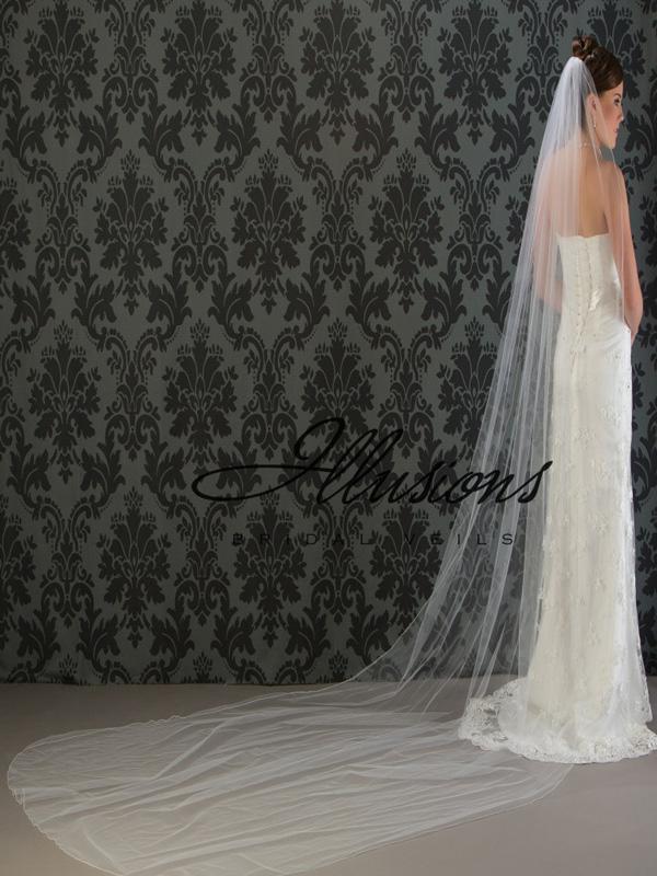 Illusions Bridal Corded Edge Veil 7-1441-C