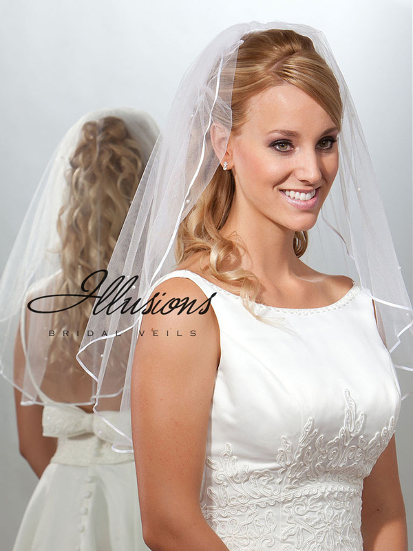 Illusions Bridal Ribbon Edge Veil 7-251-1R-P