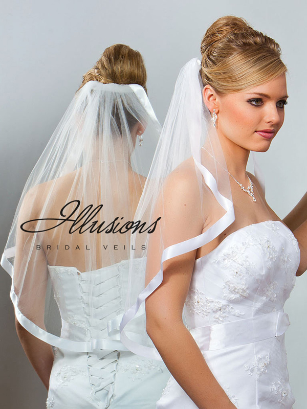 Illusions Bridal Ribbon Edge Veil 7-251-7R