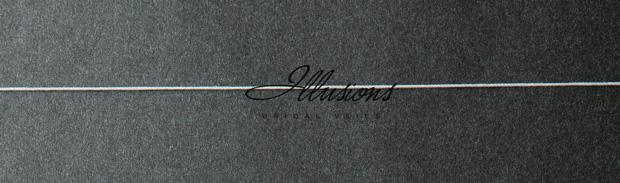Illusions Bridal Corded Edge Veil 7-251-C; Waist Length, Simple