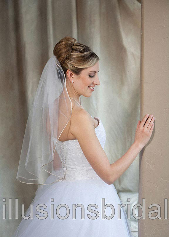 Illusions Bridal Colored Veils and Edges 7-251-RT-CF