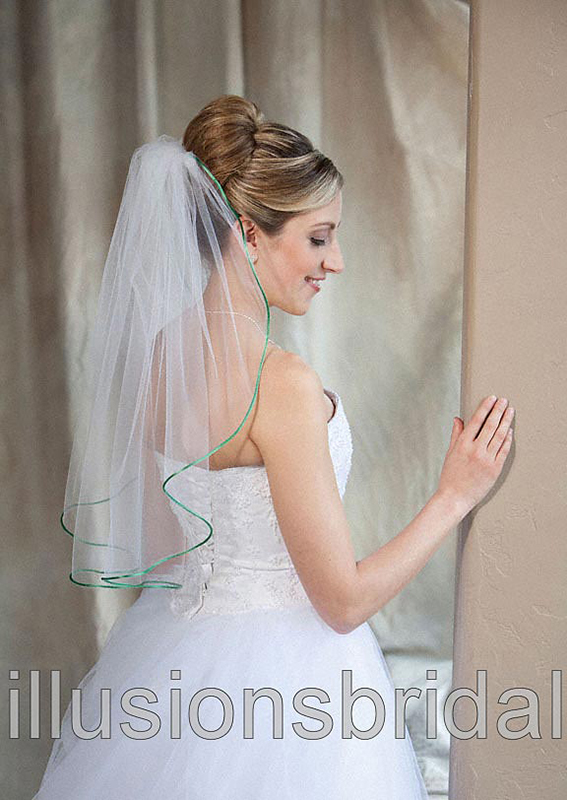 Illusions Bridal Colored Veils and Edges 7-251-RT-EM