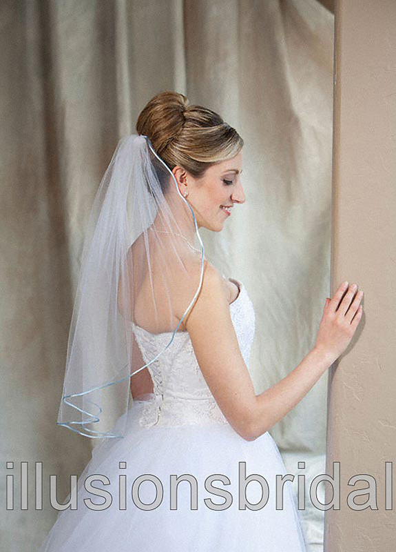 Illusions Bridal Colored Veils and Edges 7-251-RT-LB