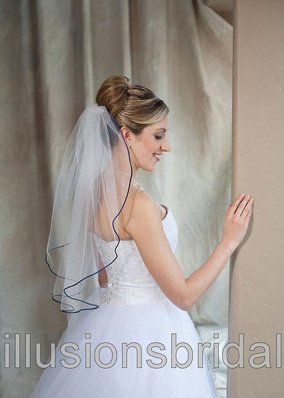 Illusions Bridal Colored Veils and Edges 7-251-RT-NB