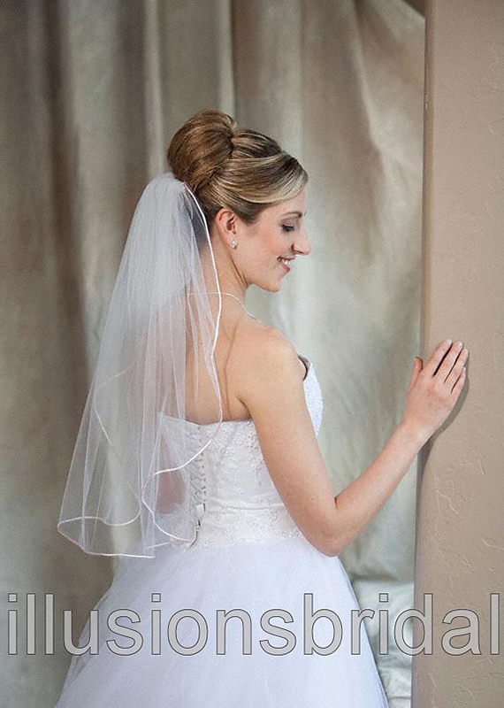 Illusions Bridal Colored Veils and Edges 7-251-RT-PK