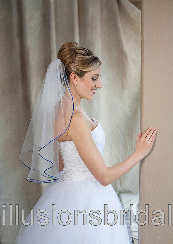 Illusions Bridal Colored Veils and Edges 7-251-RT-RB