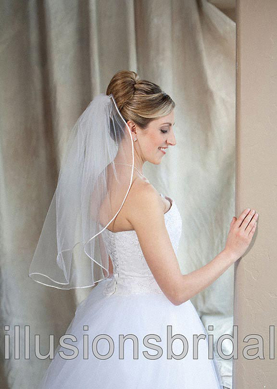 Illusions Bridal Colored Veils and Edges 7-251-RT-WS