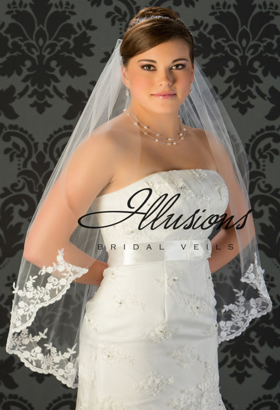 Illusions Bridal Lace Edge Veil 7-361-B4L