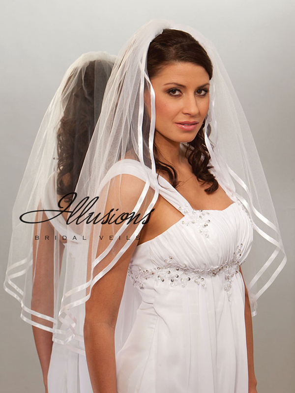 Illusions Bridal Ribbon Edge Veil 7-361-D3R