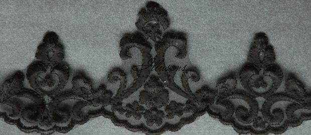Illusions Bridal Lace Edge Veil 7-451-3L: Rhinestone Accent