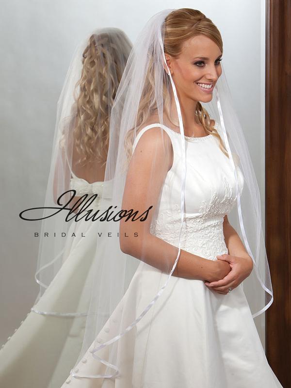 Illusions Bridal Ribbon Edge Veil 7-451-3R
