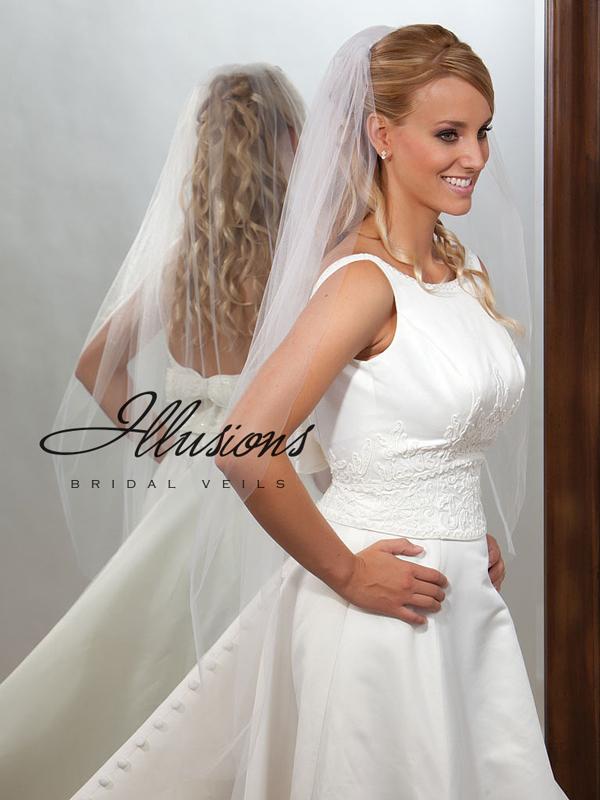 Illusions Bridal Cut Edge Veil 7-451-CT