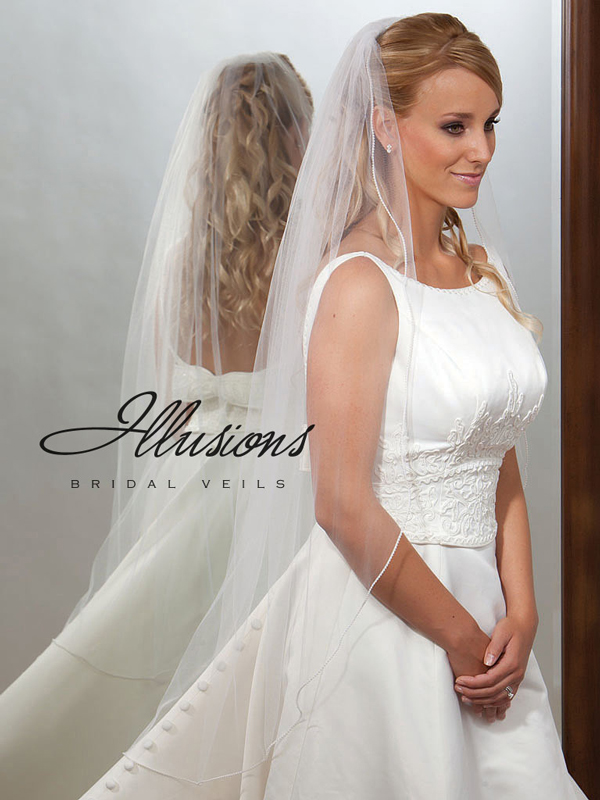 Illusions Bridal Pearl Edge Veil 7-451-P