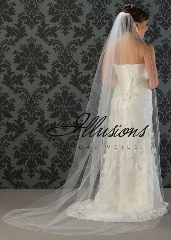 Illusions Bridal Corded Edge Veil 7-901-C