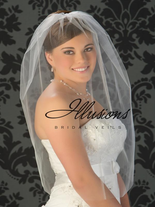 Illusions Bridal Cut Edge Veil Blusher