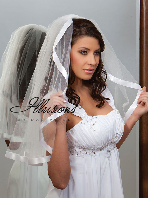 Illusions Bridal Ribbon Edge Veil C1-251-7R
