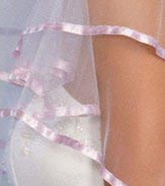 Illusions Bridal Colored Veils and Edges C1-252-3R-LV: Pearl Accent