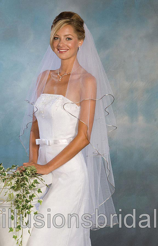 Illusions Bridal Colored Veils and Edges C1-452-RT-AS