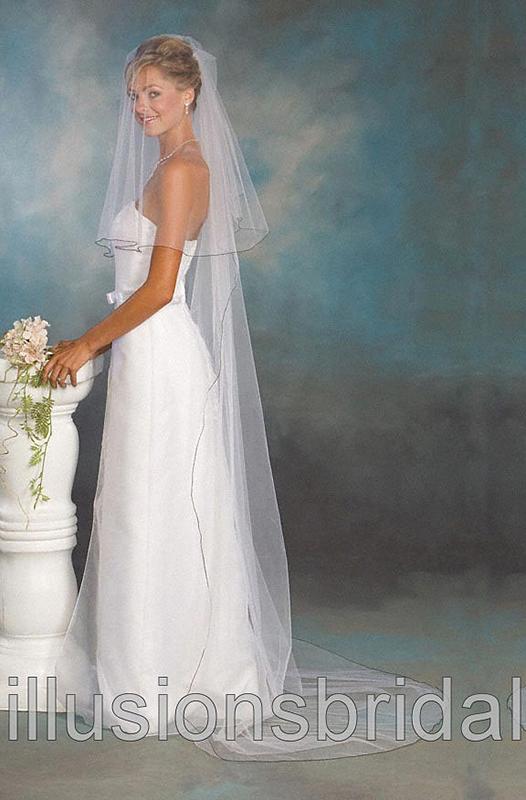 Illusions Bridal Colored Veils and Edges C5-902-C-BK