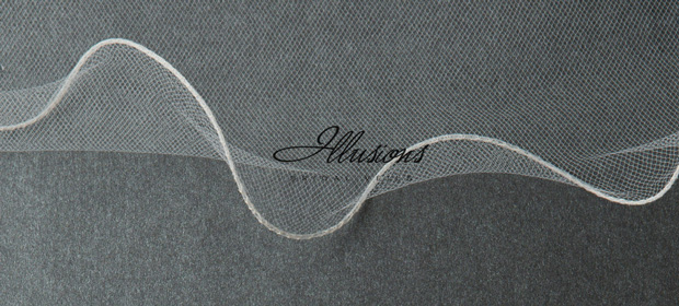 Illusions Bridal Filament Edge Veil C7-1442-F: Rhinestone Accent