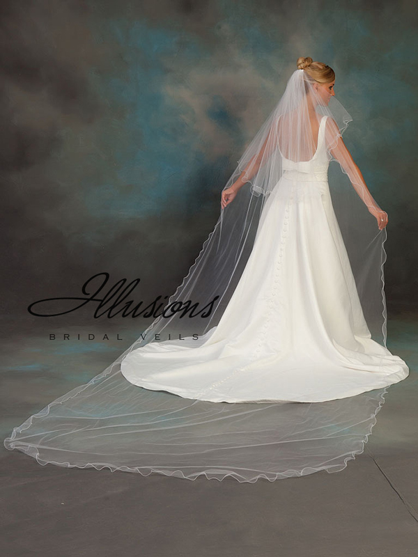 Illusions Bridal Filament Edge Veil C7-1442-F