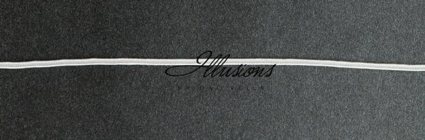 Illusions Bridal Soutache Edge Veil C7-202-ST: Rhinestone Accent