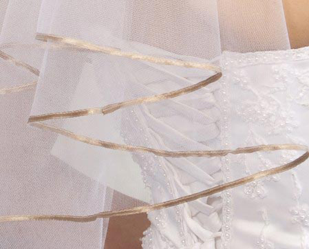 Illusions Bridal Colored Veils and Edges C7-252-1R-CF