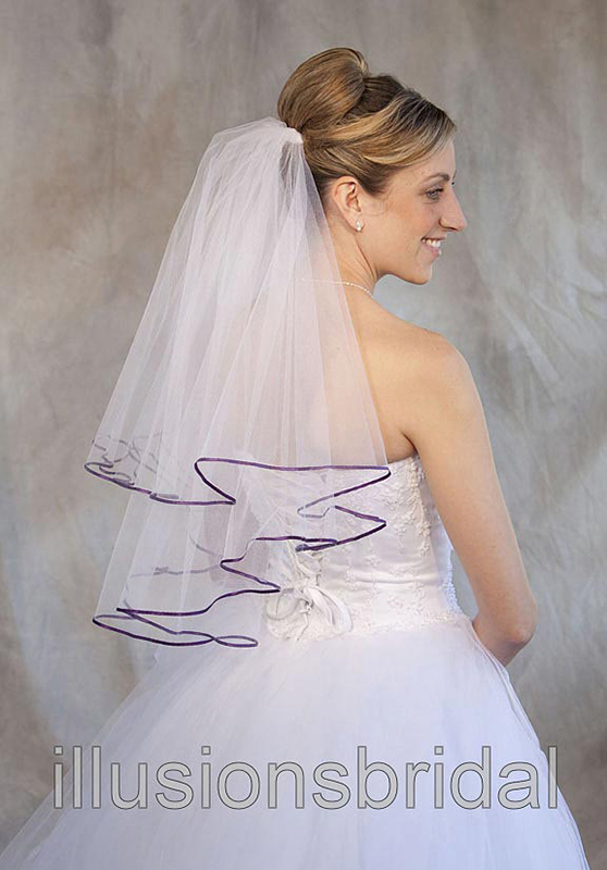 Illusions Bridal Colored Veils and Edges C7-252-1R-EG