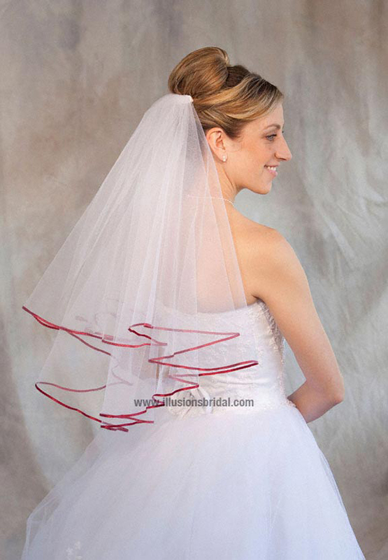 Illusions Bridal Colored Veils and Edges C7-252-1R-GT