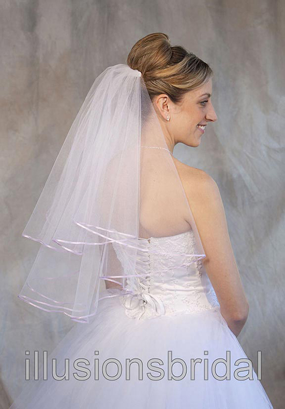 Illusions Bridal Colored Veils and Edges C7-252-1R-LV