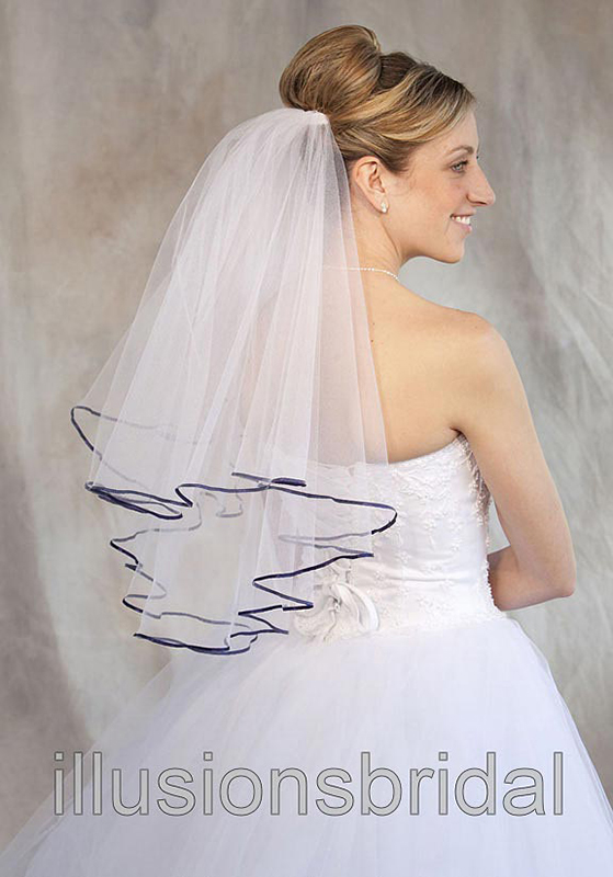 Illusions Bridal Colored Veils and Edges C7-252-1R-NB