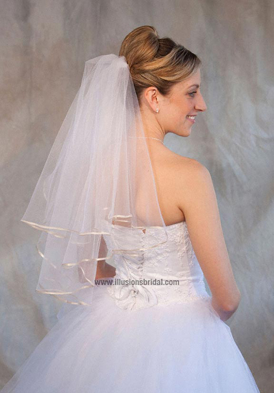 Illusions Bridal Colored Veils and Edges C7-252-1R-O