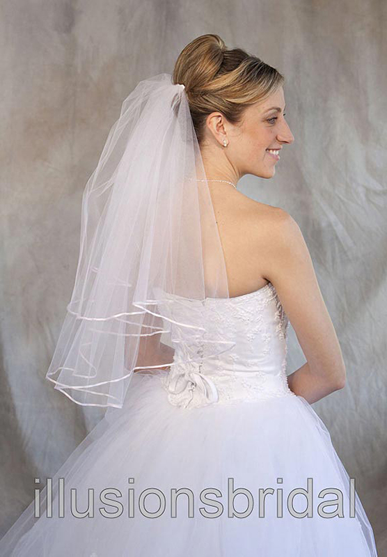 Illusions Bridal Colored Veils and Edges C7-252-1R-PK