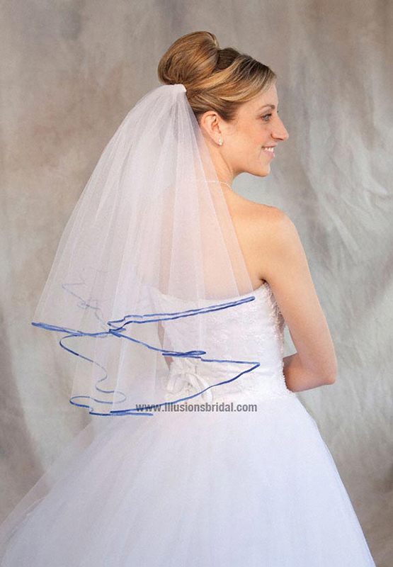Illusions Bridal Colored Veils and Edges C7-252-1R-RB